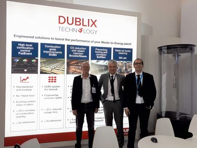 Dublix Booth at IFAT with Directors Asger Danielsen, Mario Lodi and Oliver Gohlke. DD-Jet model in the back.